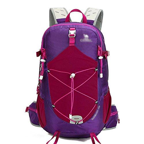 HWLXBB Outdoor Bergsteigen Paket Männer und Frauen 35L Wasserdichte Licht Mehrzweck-Bergsteigen Tasche Wandern Rucksack ( Farbe : 2* )