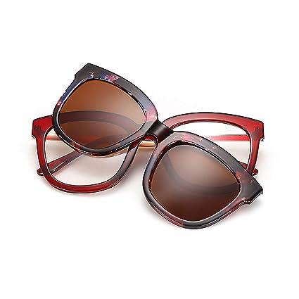 Gafas de sol polarizadas Gafas de sol retro de marco completo con lentes intercambiables para hombres