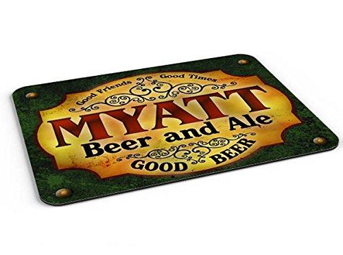 Myatt Beer   Ale Mousepad Desk Valet Coffee Station Mat