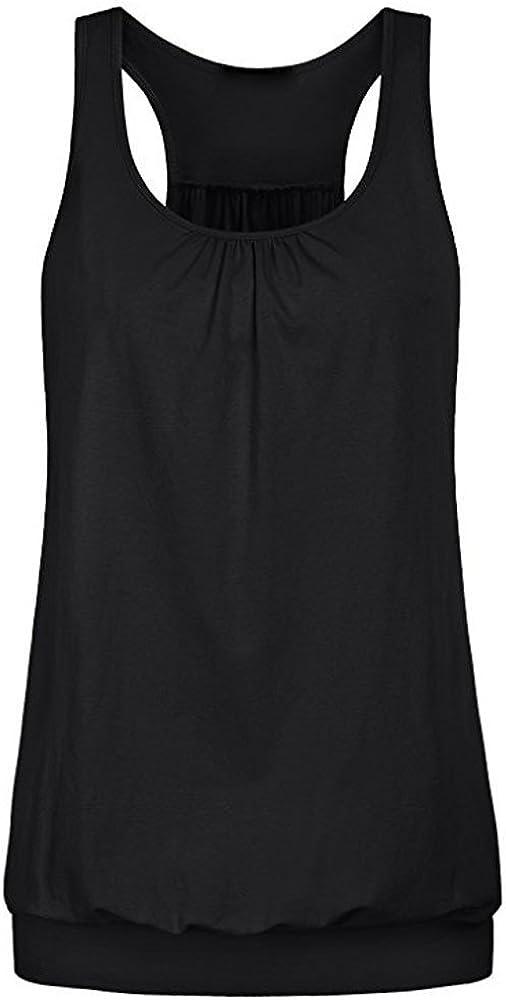 IEason Women top Women Sleeveless Yoga Tops Activewear Running Workout Shirt Tunic Vest Tank