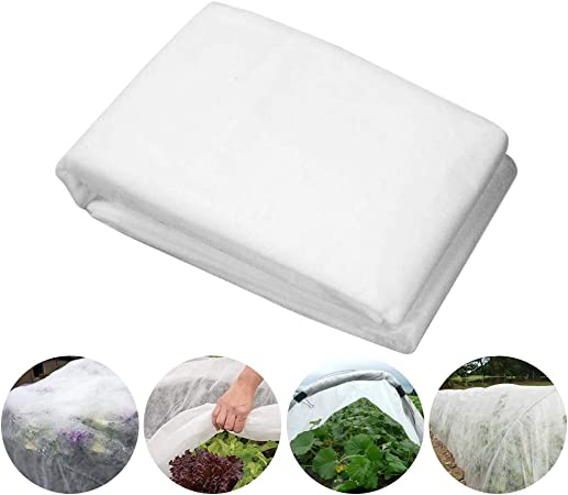 HGMart Heavy Floating Row Cover Garden Fabric Plant Cover Outdoor Frost Protection Blanket for Winter Frost Cold 0.55oz,12/×15,White