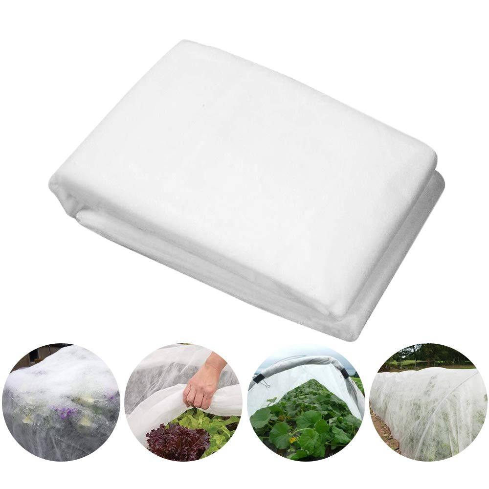 HGmart Heavy Floating Row Cover Garden Fabric Plant Cover Outdoor Frost Protection Blanket for Winter Frost Cold, 0.9oz,7'×1000',White