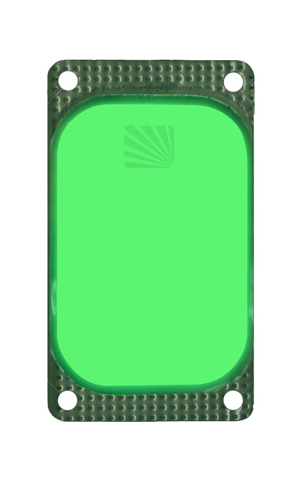 Cyalume ChemLight Military Grade VisiPad ID and Marking Emitter, 4-1/2'' Length x 2'' Width x 1/8'' Height, Green (Pack of 25)
