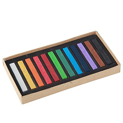 niceeshop(TM) 12 Colours Chalk Pastels Set for Art Drawing Scrapbooking (Assorted Colors,Set of 12) (Understanding Hair Color)