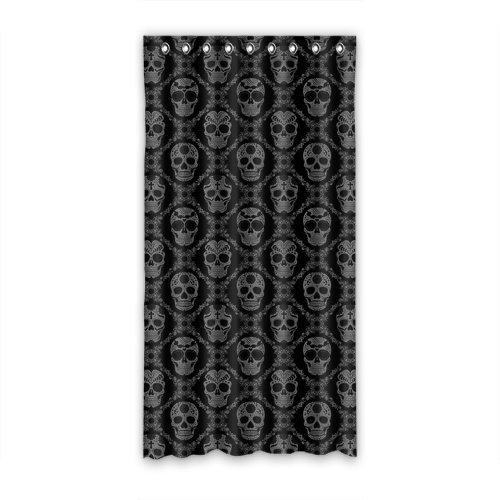 Window curtain Home Decorative Custom Skull For Living Room/Bedroom/Patio Door/Bathroom,Home Decor, 50″ X 96″(One Piece)