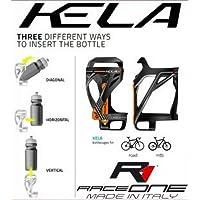 RaceOne Kela portabidón Ciclo, Negro/Naranja, única