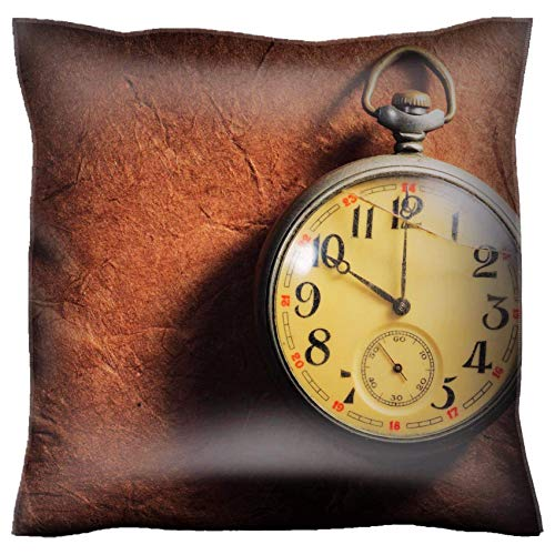 MSD Handmade 30x30 Throw Pillow case Polyester Pillowcase Decorative Pillow Covers Sofa Bed Couch Vintage Clock on The Very Old Paper Image 39733329 Customized Tablemats Stain Resistanc (Msd Square Clock)