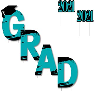 product image for Big Dot of Happiness Teal Grad - Best is Yet to Come - Yard Sign Outdoor Lawn Decorations - Turquoise 2021 Graduation Party Yard Signs - Grad
