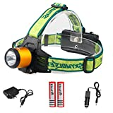 12000LM CREE XM-L T6 Rechargeable Led Headlamp Headlight+2X18650 Battery+Charger