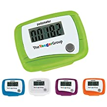 250 Customized Value Pedometers for $735 - That's only $2.94 each! Includes your logo and rush shipped. Kineticpromos #40613