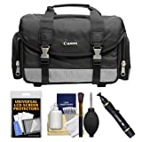 Canon 100DG Digital SLR Camera Case Gadget Bag + Kit for EOS 6D, 7D, 77D, 80D, 5DS R, 5D Mark II III IV, Rebel T6, T6i, T6s, T7i, SL1, SL2