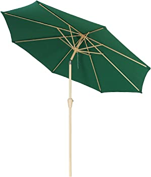 Balichun 9 Ft Outdoor Table Aluminum Patio Umbrella