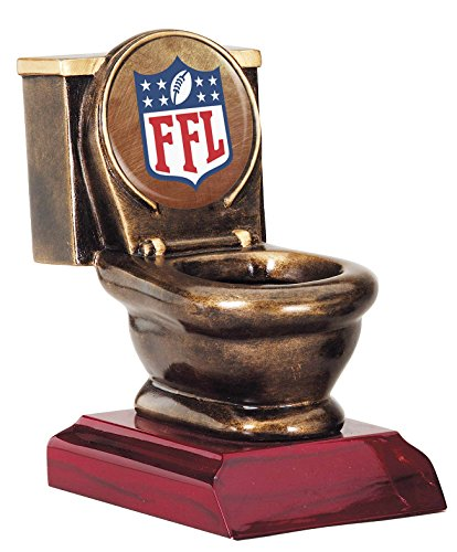 Fantasy Football FFL Toilet Bowl Trophy / Losers Award (Bronze (Bowl Trophy)