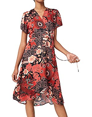 Mango Women's Print Wrap Dress