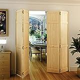 Bi-fold Door, Six-panel Style Solid Wood (80x36)