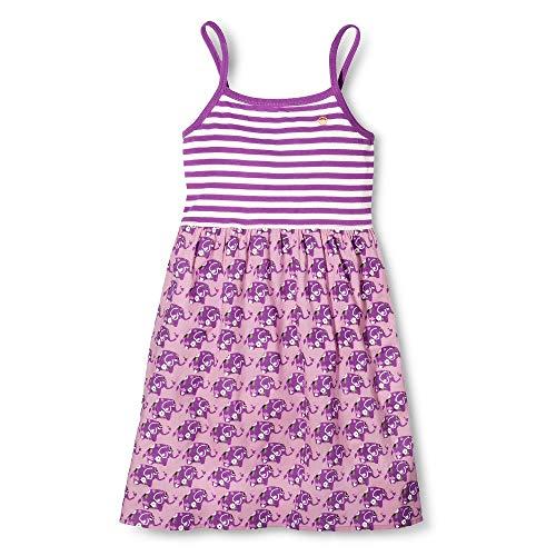 Pink Chicken Happy Striped Dress - Purple Elephant (5Y)