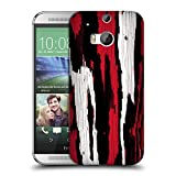 Official Caleb Troy Crimson Splinters Wood Hard Back Case for HTC One M8 / M8 Dual Sim