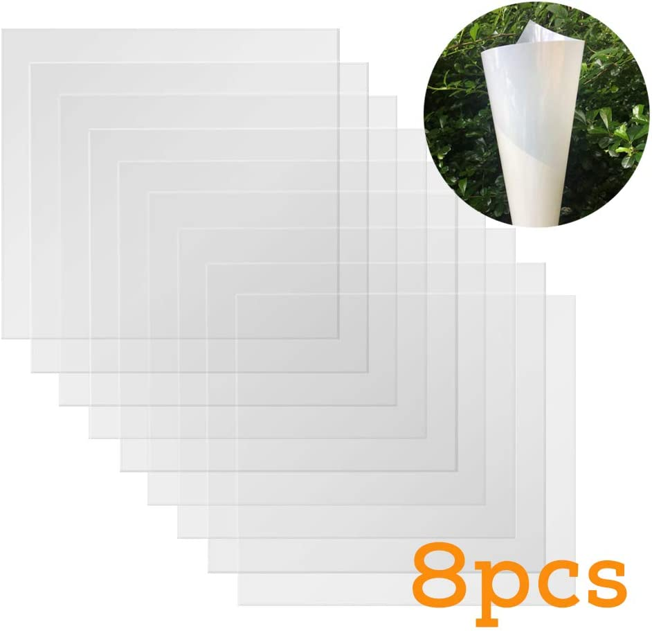 BAISDY 8Pcs Thick Blank Mylar Stencil Sheets 11Mil 12 x 12inch