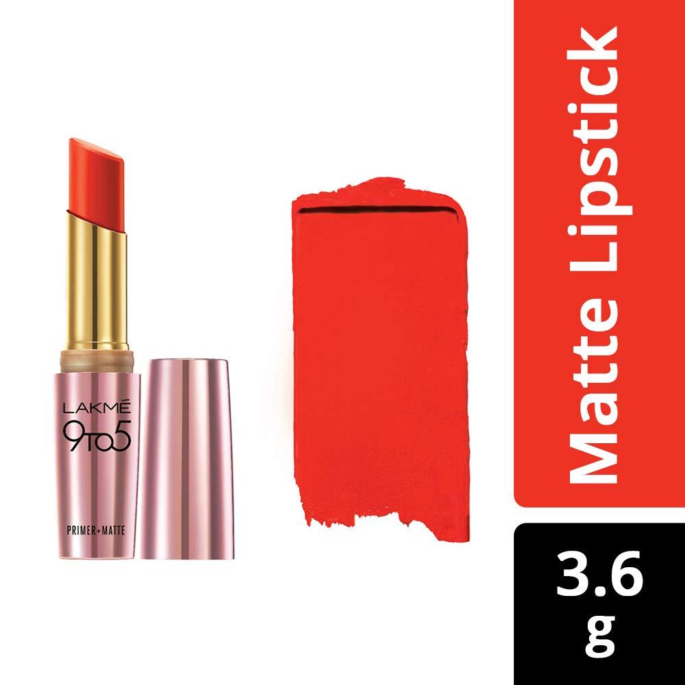 Amazon.com : Lakme 9 to 5 Matte Lip Color Mr8, Orange Edge, 3.6ml : Beauty
