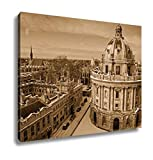 Ashley Canvas Radcliffe Camera Lincoln And Exeter Colleges, Wall Art Home Decor, Ready to Hang, Sepia, 16x20, AG6435025