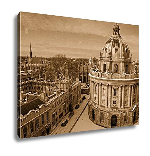 Ashley Canvas Radcliffe Camera Lincoln And Exeter Colleges, Wall Art Home Decor, Ready to Hang, Sepia, 16x20, AG6435025 by Ashley Canvas (Image #6)