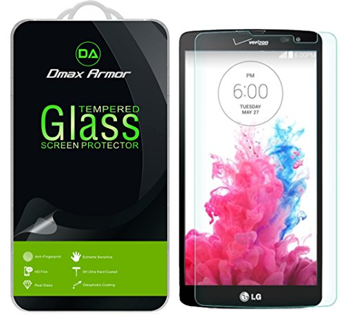 LG G Vista Glass Screen Protector, Dmax Armor [Tempered Glass] 0.3mm 9H Hardness, Anti-Scratch, Anti-Fingerprint, Bubble Free, Ultra-clear (Lg G Vista Screen Protector compare prices)