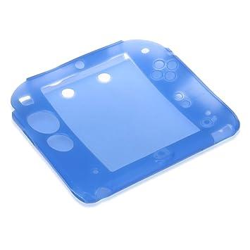 Funda Carcasa Silicona Azul para Nintendo 2DS Consola de ...