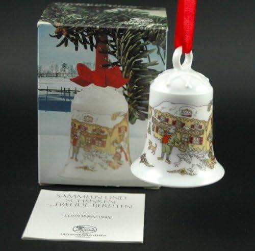 Porzellanglocke Baumschmuck Anh/änger Hutschenreuther Weihnachtsglocke 1993*Rarit/ät Weihnachten
