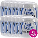 Aunt Lydia's 97038 Extra Fine Crochet Thread Size 30-White, Multipack of 12