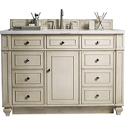 Superieur James Martin Bristol 48u0026quot; Single Bathroom Vanity In Vintage Vanilla  (Top Not ...