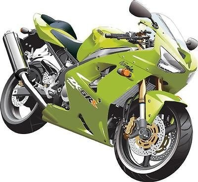 StickersNews - Pegatina moto Kawasaki Ninja 120 x 110 cm ...