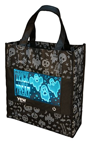 Igloo Girl Costume (YEW Stuff POP Lights: Halloween Bag for Kids, Candy Bag, Trick or Treat Bag, Halloween Bags with Removable LED Light (Ghostly Graveyard))
