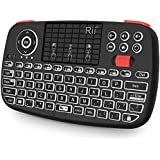 88b9ba10bb5 Rii Bluetooth Keyboard,Portable Mini Wireless Keyboard with QWERTY Backlit  Keypad,Touchpad for Apple