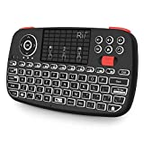 Rii Bluetooth Keyboard,Portable Mini Wireless Keyboard with QWERTY Backlit Keypad,Touchpad for Apple iOS/Android/Window