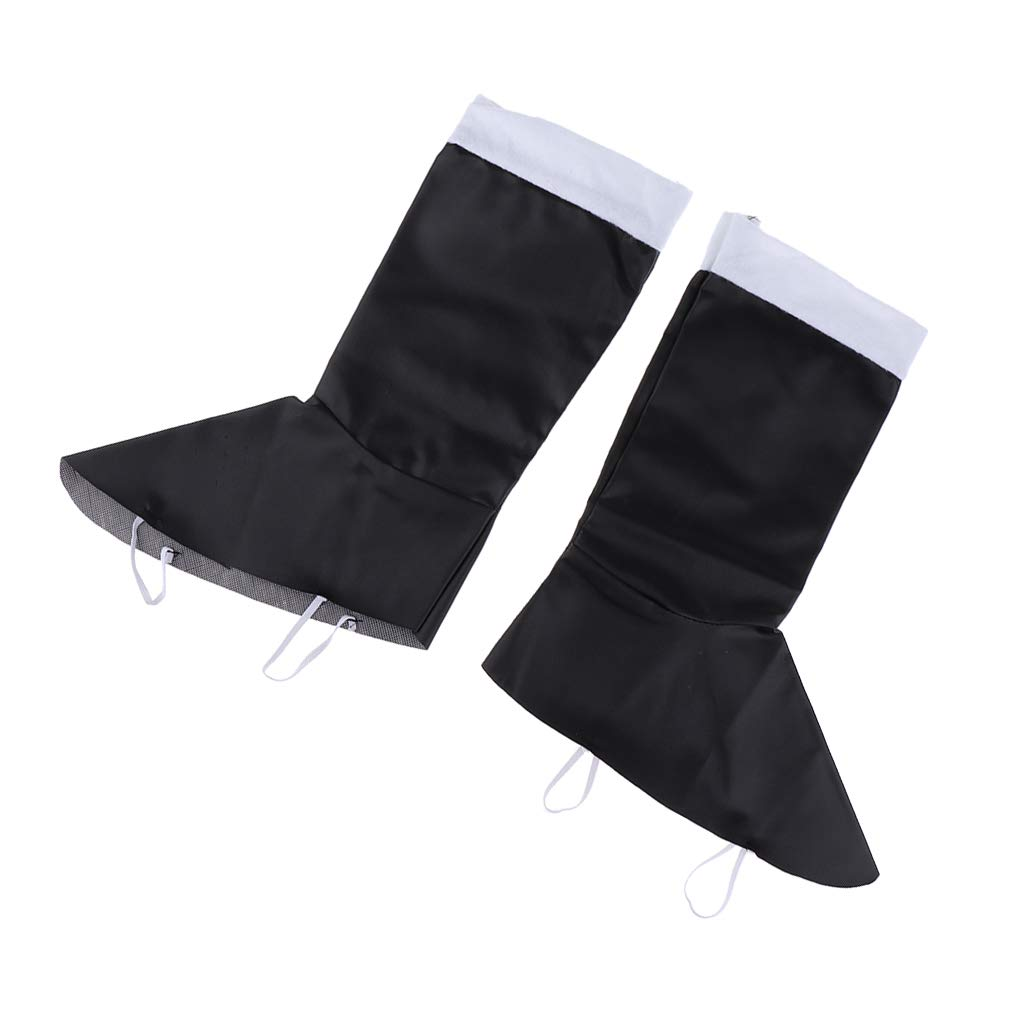 Prettyia Santa Boot Covers Adults Kids Claus Costume Boot Tops Christmas Fancy Dress