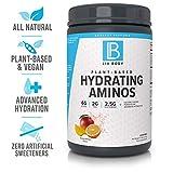 LIV Body   LIV Plant Based Hydrating Aminos   6g of BCAA, 2g of EAA & 2.5g of Glutamine   Coconut Water Powder for Advanced Hydration (Orange Mango)