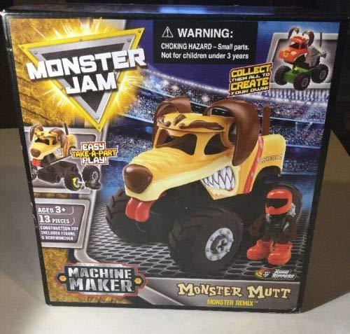 Monster JAM Monster MUTT Machine Maker Monster Remix 13 Pieces Create Your OWN
