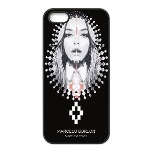 MARCELO BURLON 21 funda iPhone 4 4s funda del teléfono celular de cubierta, funda del teléfono celular de plástico negro