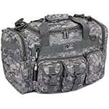 """Mens 18"""" Inch Duffel Molle Tactical Gear Shoulder Strap Travel Bag with KEYCHAIN FLASHLIGHT or CARABINER KEYCHAIN"""
