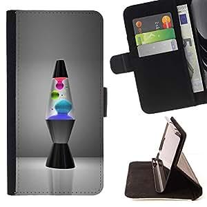 For Samsung Galaxy Note 4 IV Case , Lámpara de lava- la tarjeta de Crédito Slots PU Funda de cuero Monedero caso cubierta de piel