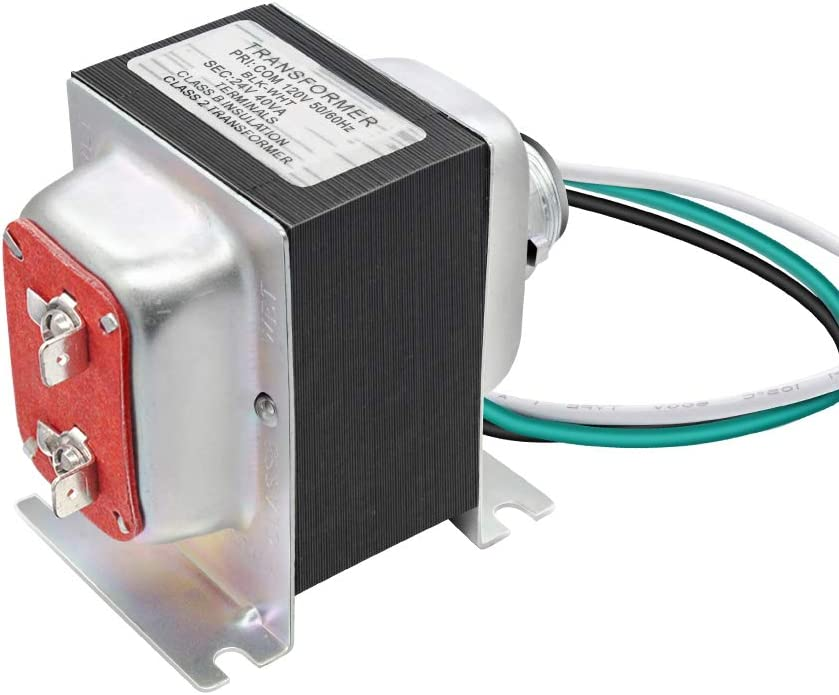 Sensi et Honeywell rouge alimentation compatible avec les thermostats Saswell toutes les versions de sonnette /à anneau Nest Newding Thermostat 24V 40VA et transformateur de sonnette certifi/é UL