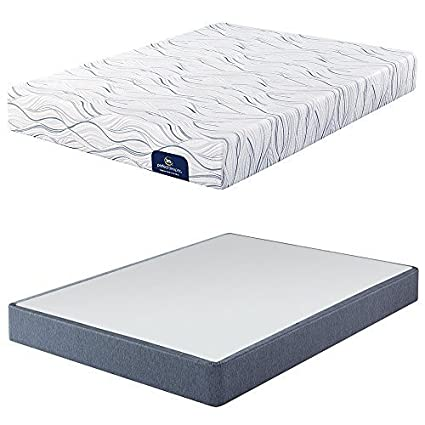 Amazon Com Serta Perfect Sleeper Luxury Firm 400 Memory Foam
