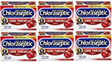 Chloraseptic Sore Throat 18 lozenges | Cherry | Soothing | Pack of 6