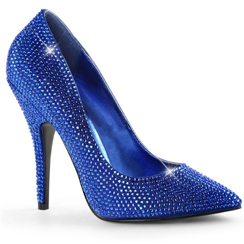 Heels-Perfect - Zapatos de vestir de material sintético para mujer azul - Blau (Blau)
