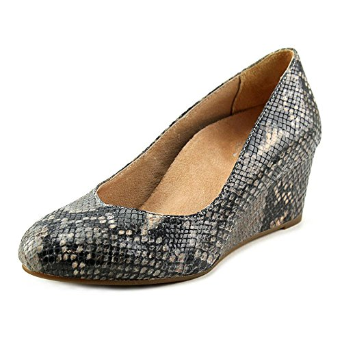 Vionic Antonia Womens Leather Wedge Natural Snake - 6.5 by Vionic