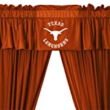 NCAA University of Texas Longhorns - 5pc Jersey Drapes-Curtains and Valance Set
