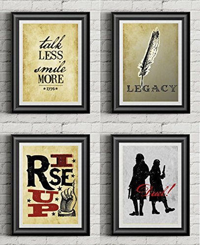(HAMILTON COLLECTION | Set Of Four 11x14 Poster Prints | Inspired By Broadway Musical Hamilton | Vintage | Lin-Manuel Miranda)