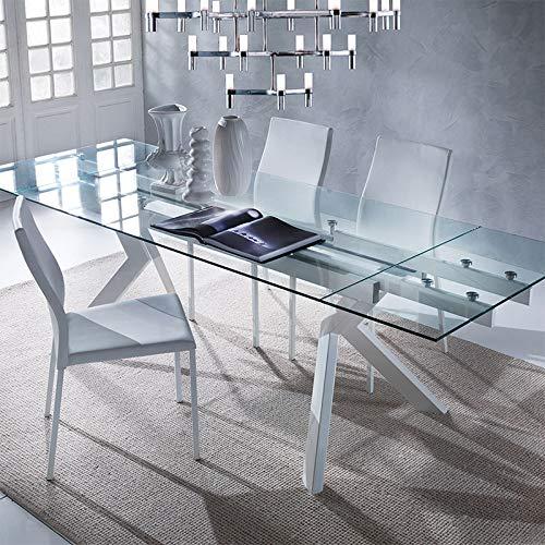 M-029 Mesa de Cristal Extensible Topo Design Aurelia: Amazon.es: Hogar