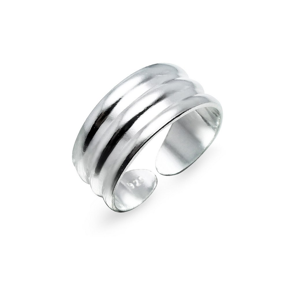 Sterling Silver Toe Ring Jewelry For Women Three Row Adjustable Wide Band Silverline Jewelry UK_B07CY3RTTG