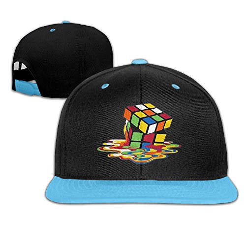 Kids Rubik's Cube Costumes (WYUZHEN Kid's Melting Rubik's Cube Hip-hop Snapback Hat Caps RoyalBlue)
